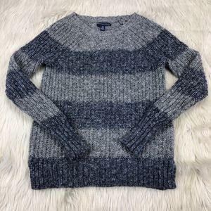 AEO Crew Neck Striped Pull Over Sweater